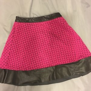Pink leather Candies Skirt